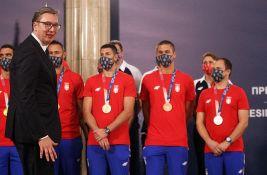 VIDEO: Doček olimpijaca ispred Skupštine u Beogradu, pre toga prijem kod Vučića