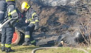FOTO, VIDEO: Ugašen požar iza Lidla, gorele gume