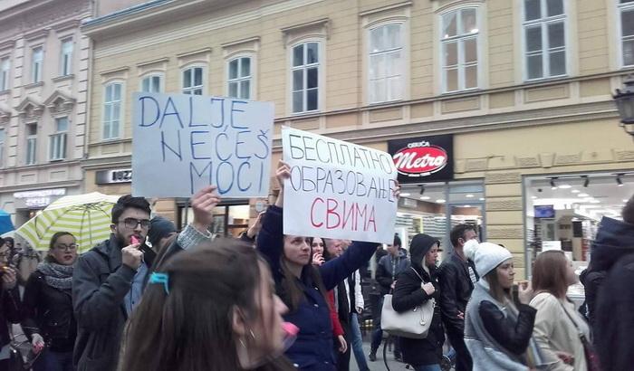 Nove prekršajne prijave protiv studenata zbog protesta