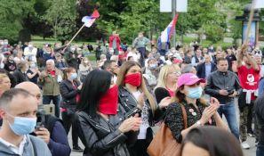 Skup podrške poslanicima Dveri završen ispred RTS-a