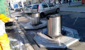 Čistoća počinje sa intenzivnom dezinfekcijom raskrsnica i trotoara
