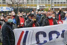 U Beogradu održan protest zaposlenih u železničkim preduzećima