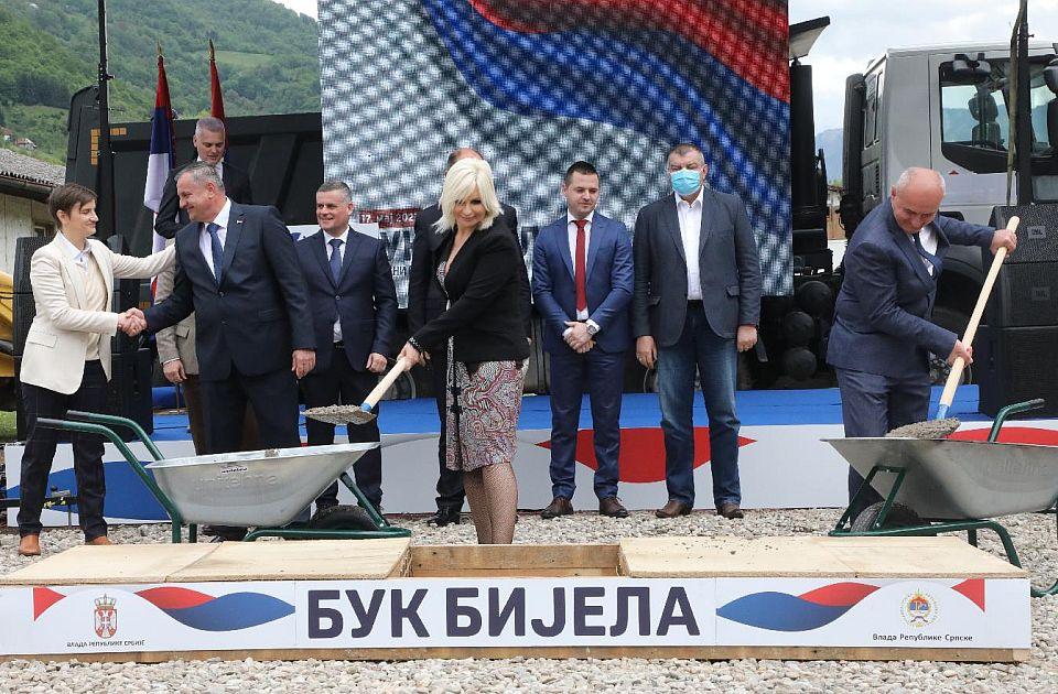 Zorana Mihajlović i Ana Brnabić položile kamen temeljac za izgradnju hidroelektrane u Foči