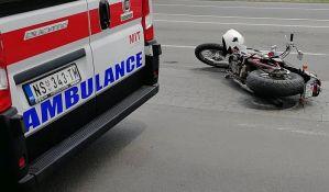 Motociklista teško povređen u udesu na Telepu