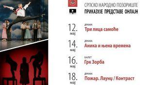 Četiri predstave na onlajn repertoaru Srpskog narodnog pozorišta