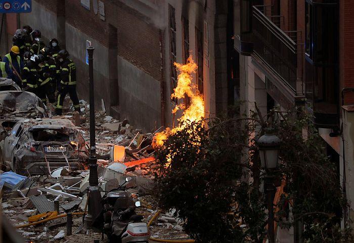 VIDEO: Snažna eksplozija u zgradi u centru Madrida, dve osobe poginule