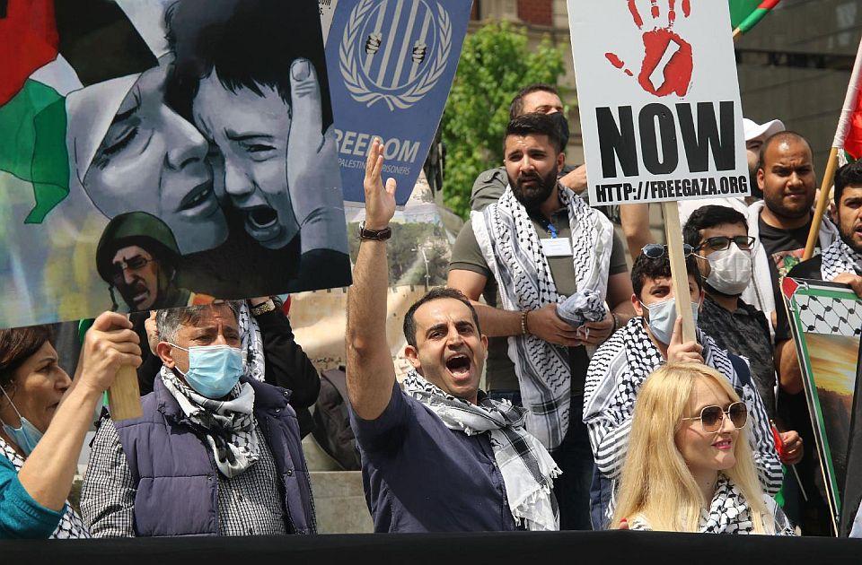 VIDEO Protest Palestinaca koji žive u Srbiji: Ljudi u Gazi žive u najvećem zatvoru na svetu