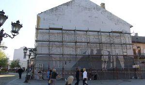 FOTO, VIDEO: Novi mural na mestu nekadašnjeg Remedovog, biće gotov za desetak dana