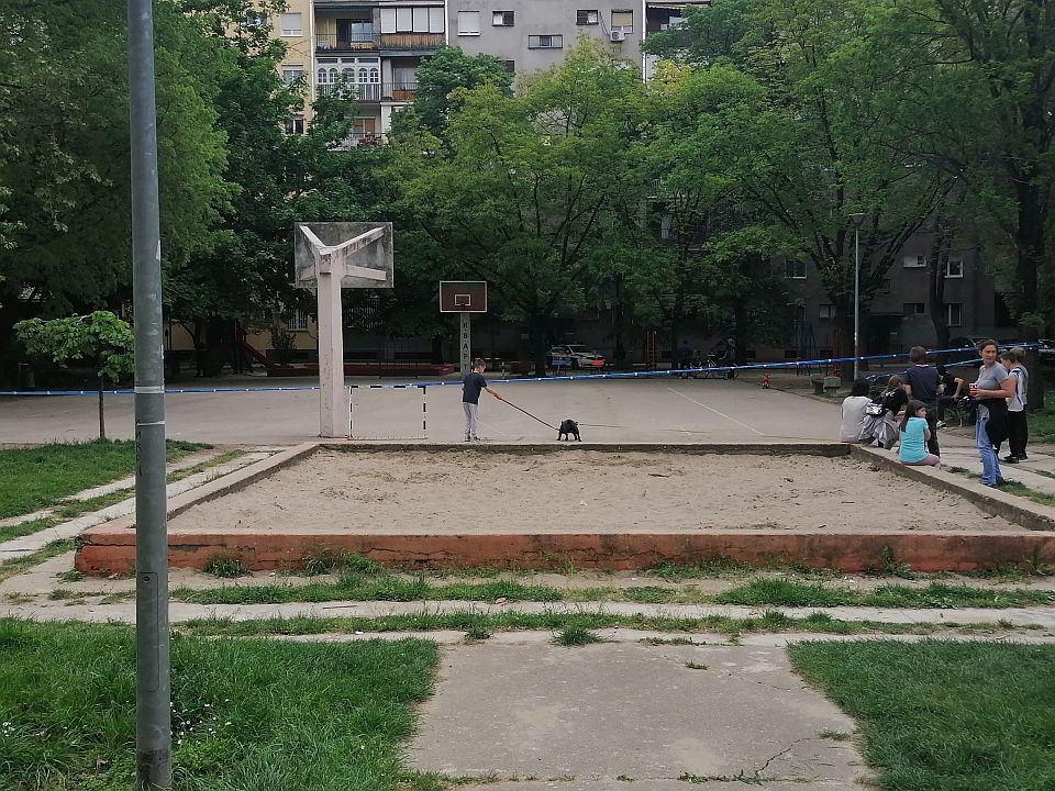 FOTO: Deca pronašla ručnu bombu na igralištu u pesku na Limanu 2