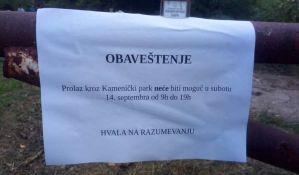 Zbog proslave kompanije NIS zatvoren Kamenički park
