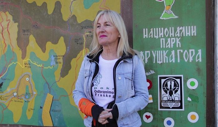 """Čuvari prekinuli snimanje izjave aktivistkinje na Fruškoj gori: """"Ne reaguju kad kvadovi uništavaju šumu"""""""