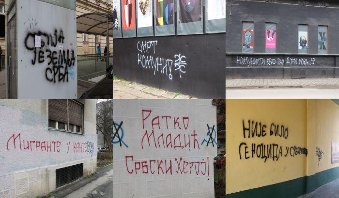 FOTO, VIDEO: Osvanuli grafiti mržnje u centru, na Limanu i na CK13