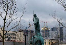VIDEO: Protest ispred Filozofskog fakulteta zbog postavljanja spomenika Stefanu Nemanji