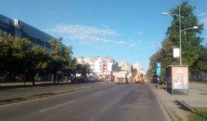 Zatvoren deo Bulevara cara Lazara pored Merkatora