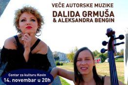 Kovin: Veče autorske muzike Dalide Grmuše večeras u Centru za kulturu