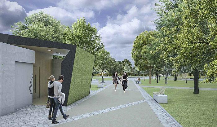 FOTO: Park između Novog naselja i Detelinare gradiće se sledeće godine