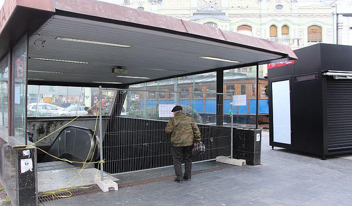 FOTO: Podzemni prolaz potpuno zatvoren do 15. decembra zbog radova