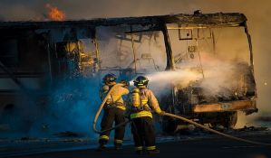 Izgoreo gradski autobus u podnožju Avale