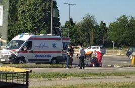 FOTO: Povređen biciklista na Detelinari