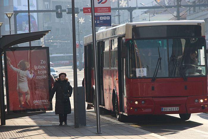 Krizni štab Beograda danas o broju putnika u autobusima