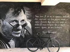 FOTO: Umetnik iz Doboja došao u Novi Sad da naslika mural posvećen Balaševiću