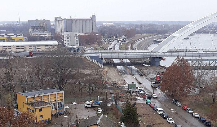 Otvara se deo Keja koji je bio zatvoren za saobraćaj zbog izgradnje mosta