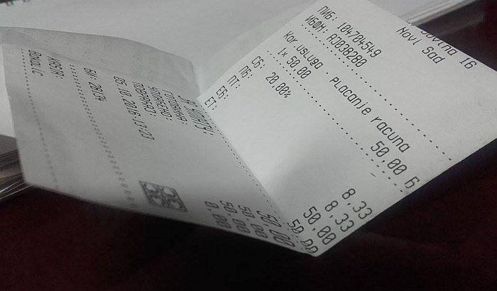 Građani poslali 35.000 koverti sa fiskalnim računima