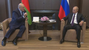Putin i Lukašenko: Kremlj želi da zadrži Belorusiju u sferi uticaja Moskve