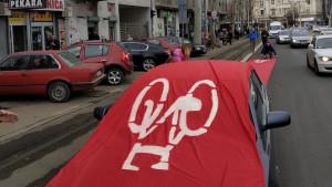 Beograd: Crveni tepih za bicikliste, staza išla i preko automobila
