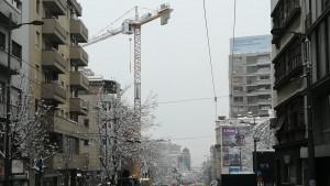 Beograd: Kran blokirao saobraćaj u Takovskoj ulici