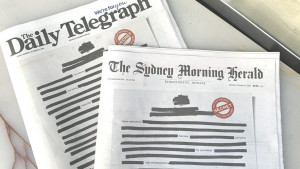 """Australija i mediji: Novine zatamnile naslovne strane protestujući protiv """"tajnosti"""