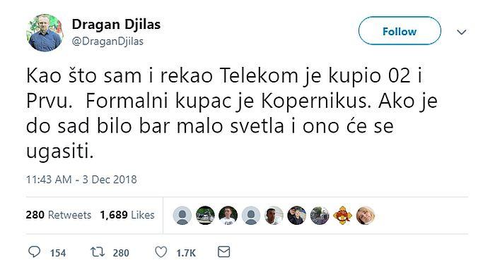 Telekom Srbija negirao da je kupio televizije O2 i Prva
