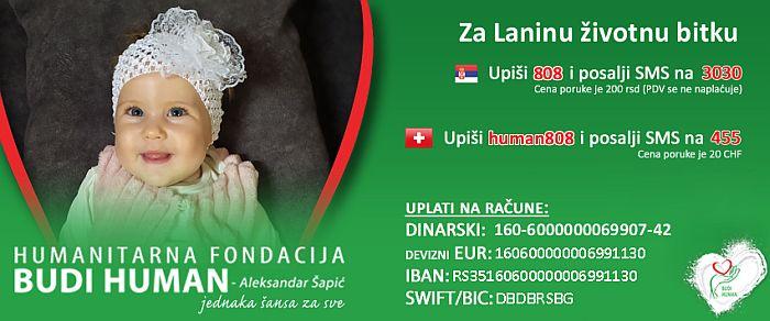 Maloj Lani iz Rakovca potreban najskuplji lek na svetu koji košta 2,1 milion evra 1